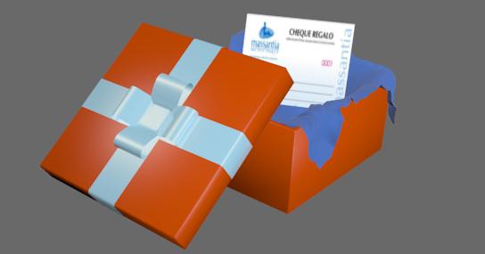 Cheque regalo massantia caja
